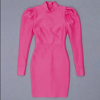 Puff-Sleeve-Bandage-Dress-K823-4