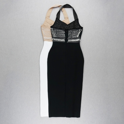 Halter-Beaded-Bandage-Dress-K824-4