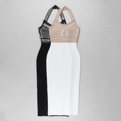 Halter-Beaded-Bandage-Dress-K824-5