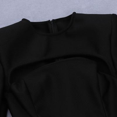 Sexy-Black-Long-Sleeve-Bandage-Dress-K835-2
