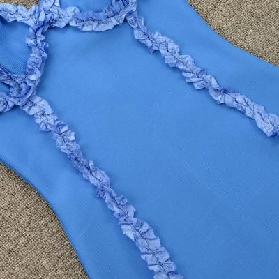 Flower-Stripe-Bandage-Dress-K955-1