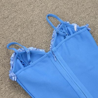 Flower-Stripe-Bandage-Dress-K955-3