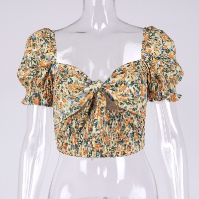 Floral-Puff-Sleeve-Corset-Top-OD001-8