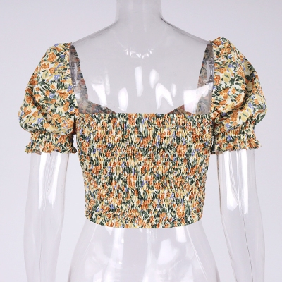 Floral-Puff-Sleeve-Corset-Top-OD001-9