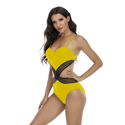 Hollow-Out-Stripe-Swimsuit-S027-19