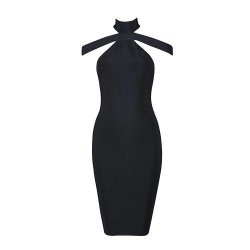 2016 New Sexy Off The Shoulder Halter Bandage Dress White KL1019 14