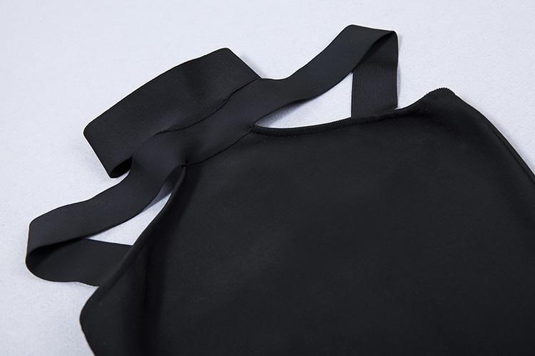 2016 New Sexy Off The Shoulder Halter Bandage Dress White KL1019 (18)