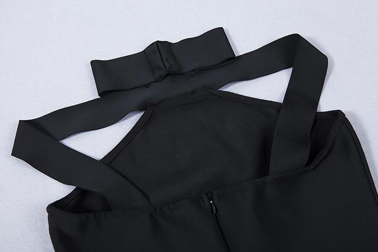 2016 New Sexy Off The Shoulder Halter Bandage Dress White KL1019 (21)