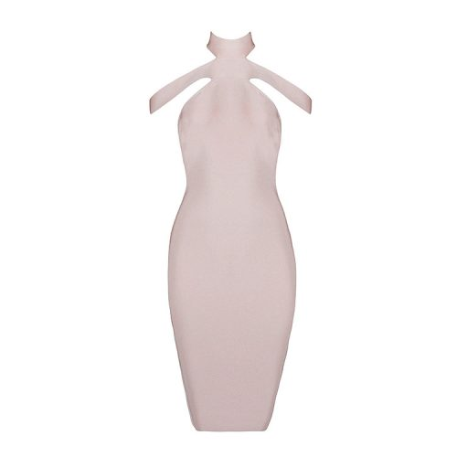 2016 New Sexy Off The Shoulder Halter Bandage Dress White KL1019 23