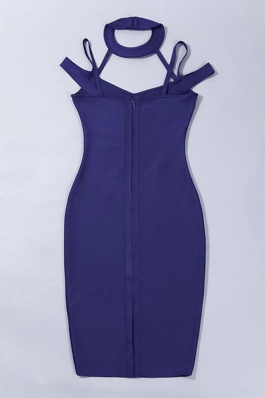 Hollow Out V-Neck Sexy Spaghetti Strap Bandage Dress KL1020 (5)