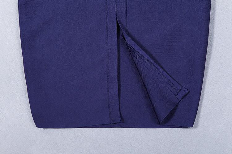 Hollow Out V-Neck Sexy Spaghetti Strap Bandage Dress KL1020 (9)