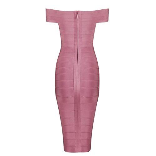 Off The Should Bandage Dress Party Celebrity Dress KH1282 12