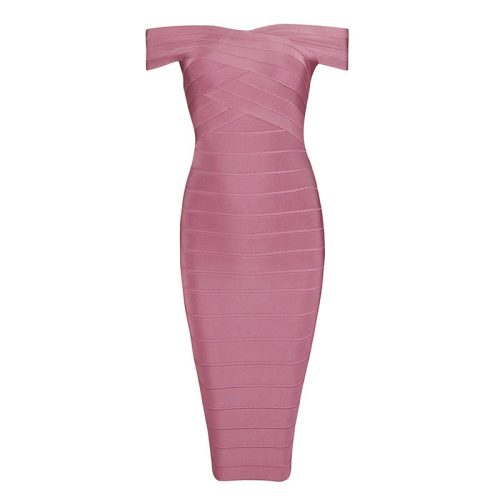 Off The Should Bandage Dress Party Celebrity Dress KH1282 8