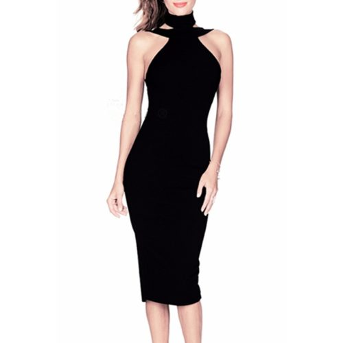 Sexy Off The Shoulder Halter Bandage Dress KL1019