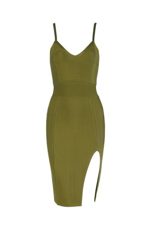 Split Short Mini Strap Bandage Dress KH1744 36