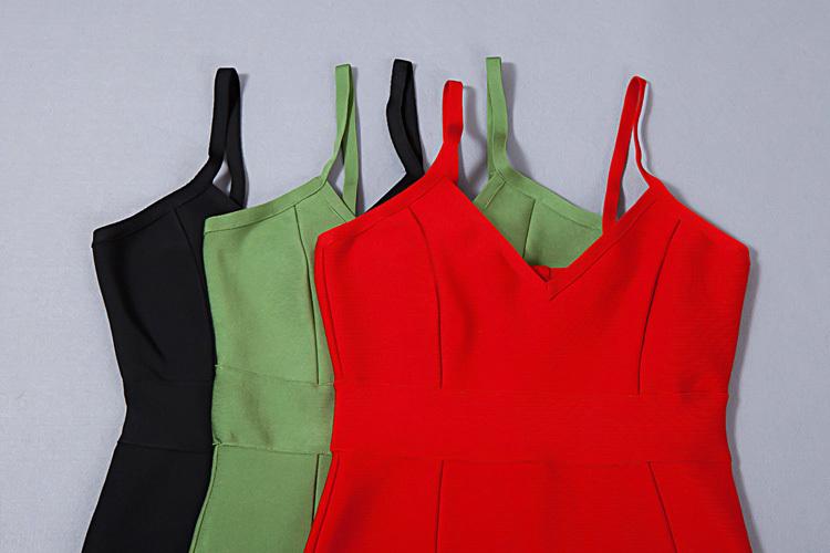 Split Short Mini Strap Bandage Dress KH1744 (55)