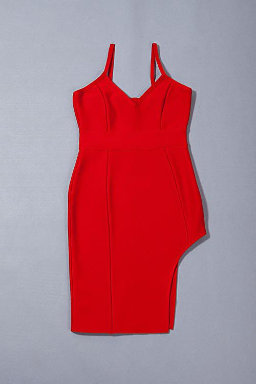 Split Short Mini Strap Bandage Dress KH1744 (60)