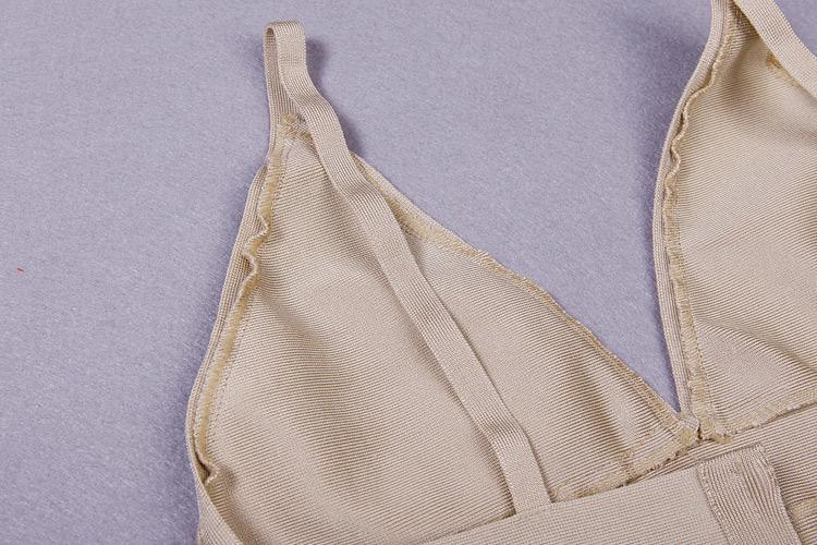 Deep V Neck Strap Bandage Dress KH1166 (11)