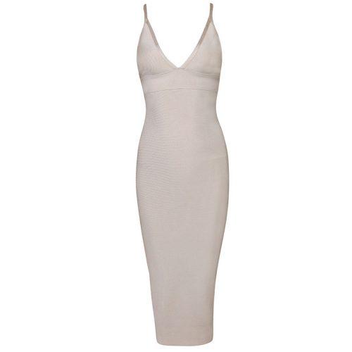 Deep V Neck Strap Bandage Dress KH1166 4