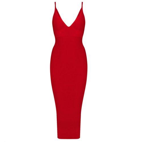 Deep V Neck Strap Bandage Dress KH1166 6