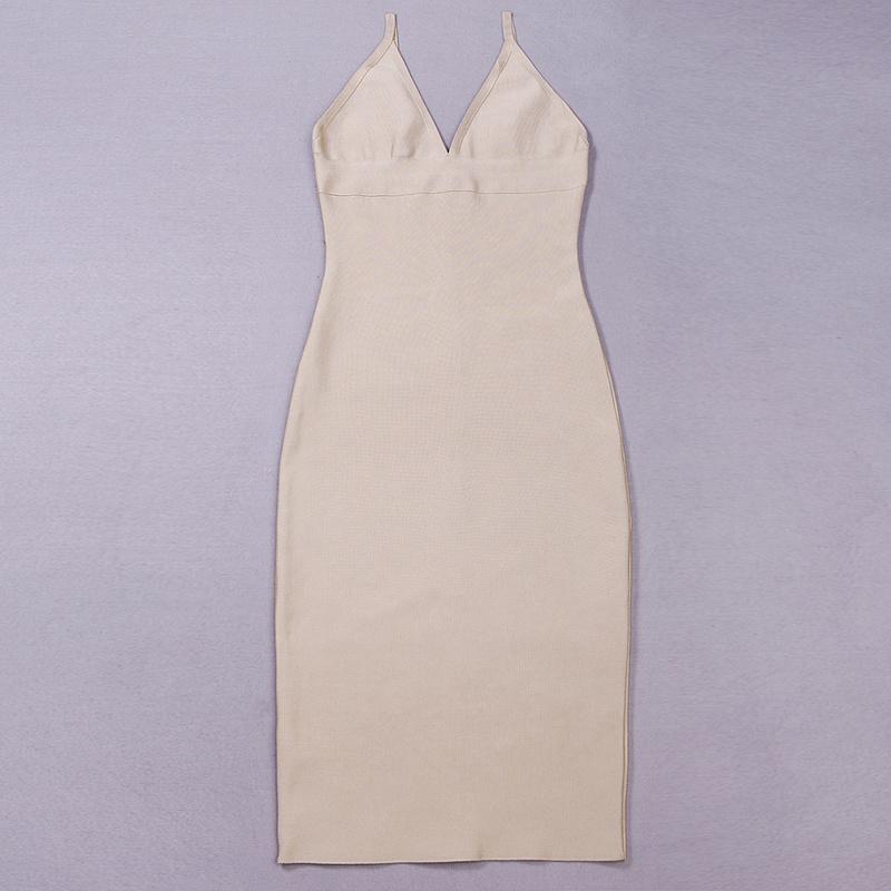Deep V Neck Strap Bandage Dress KH1166 (8)