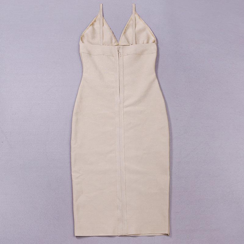 Deep V Neck Strap Bandage Dress KH1166 (9)