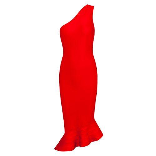 Elegance Mermaid One Shoulder Bandage Dress KH1851 15