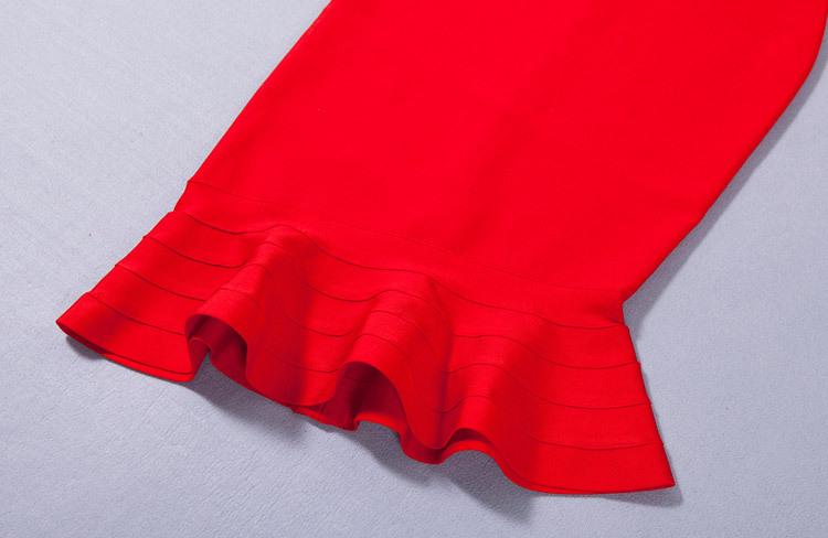 Elegance Mermaid One Shoulder Bandage Dress KH1851 (17)
