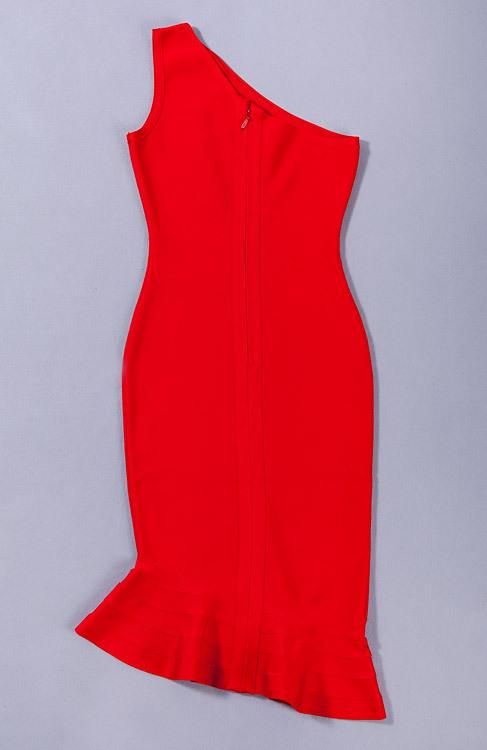 Elegance Mermaid One Shoulder Bandage Dress KH1851 (3)