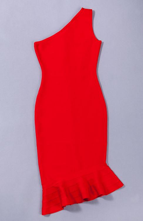 Elegance Mermaid One Shoulder Bandage Dress KH1851 (4)