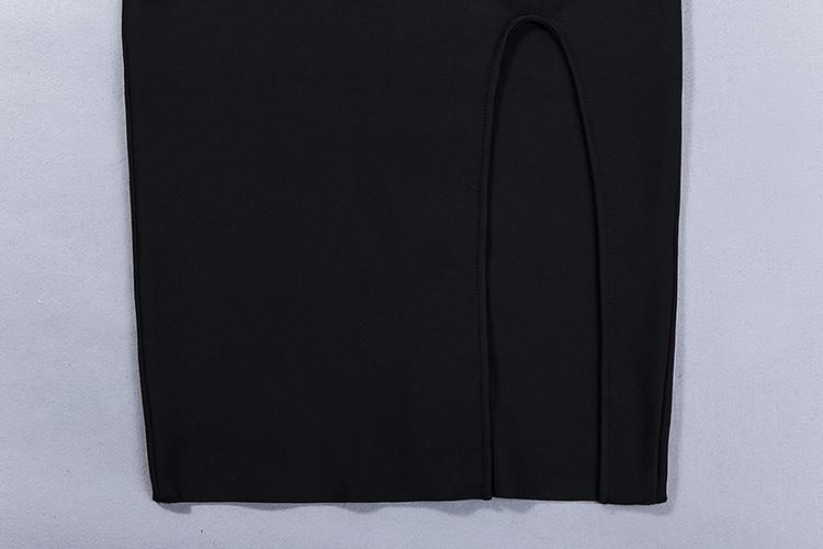 Sleeveless Slit Bandage Dress With Waist Studded KH2316 (5)