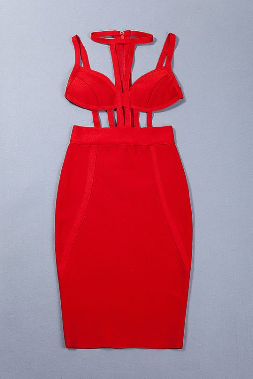Halter Backless Cut Out Bandage Dress Sexy Party Dress KL1044 10