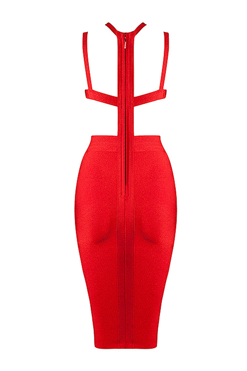 Halter Backless Cut Out Bandage Dress Sexy Party Dress KL1044 9