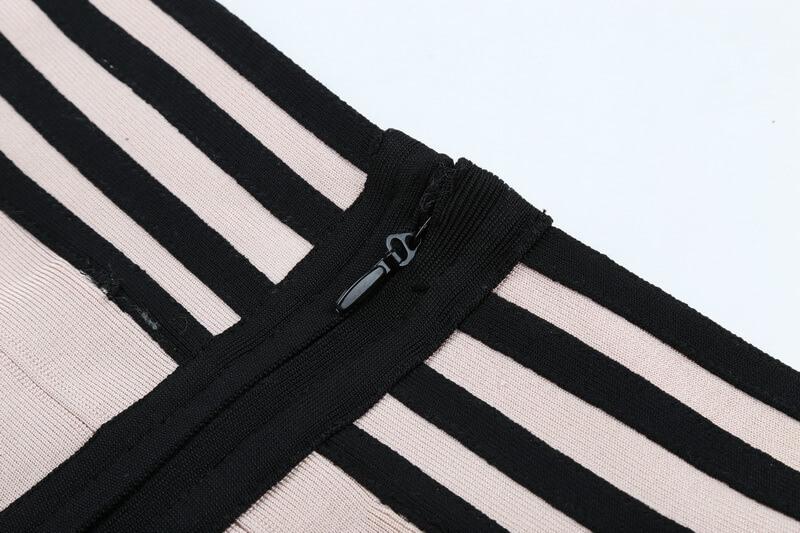 long-sleeve-lace-up-stripe-bandage-dress-two-piece-set-kl1068-40