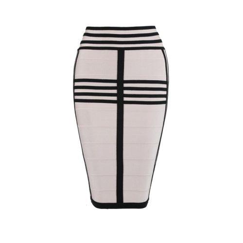 Long Sleeve Lace up Stripe Bandage Dress Two Piece Set KL1068 53