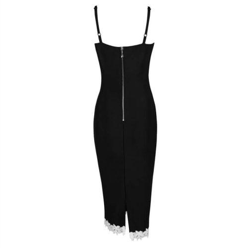 New Deep V Sheath Floral Club Lace Bandage Dress KH1768 4