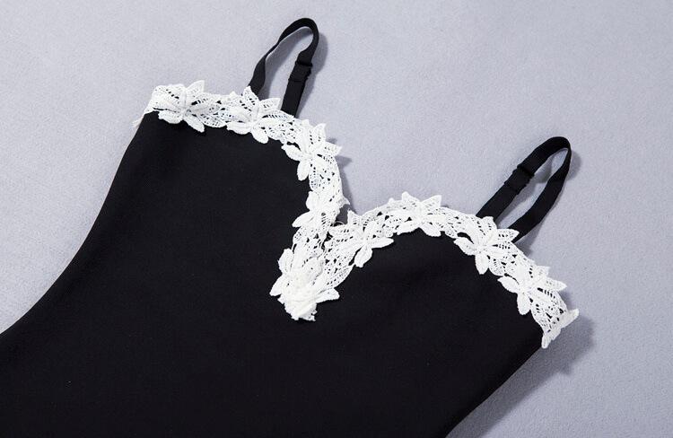 new-deep-v-sheath-floral-club-lace-bandage-dress-kh1768-7