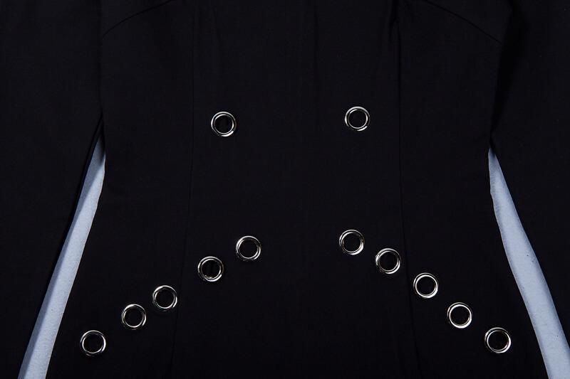 rivet-studded-hollow-out-long-sleeve-mini-bodycon-dress-kh2521-11