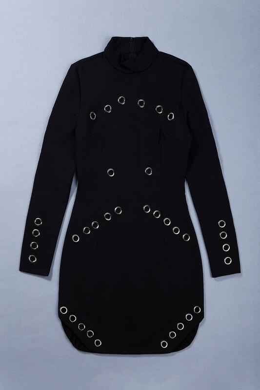 rivet-studded-hollow-out-long-sleeve-mini-bodycon-dress-kh2521-7