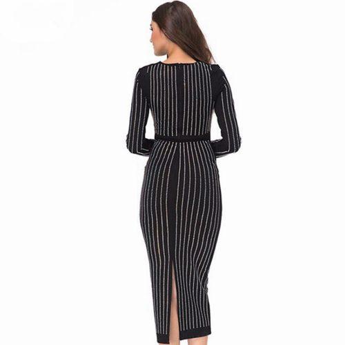 Blink Studded Long Sleeve Elegance Dress KL1071 1