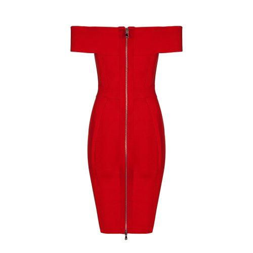 Off Shoulder Lace Up Hollow Out Bandage Dress KL1124 23