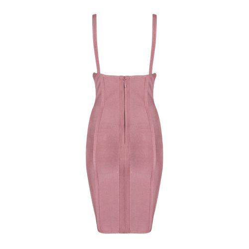 Sexy V Neck Backless Perspective Party Bandage Dress KL1120 19