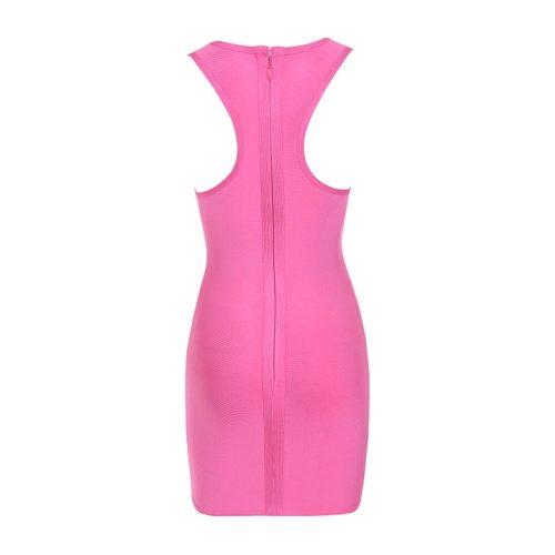Sleeveless Side Lace Mini Bandage Dress KL1126 7