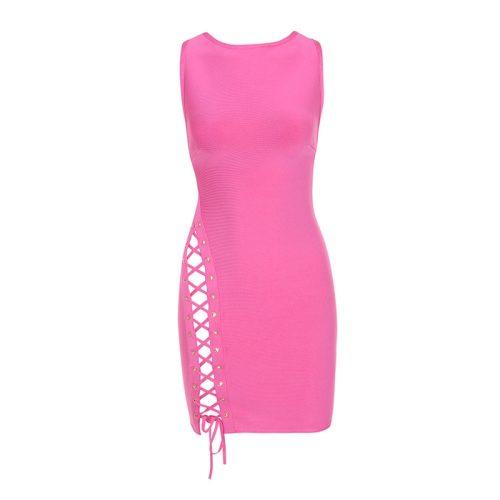 Sleeveless Side Lace Mini Bandage Dress KL1126 9