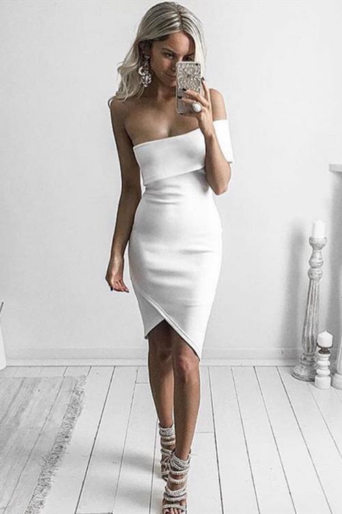 Off Shoulder Sexy Mini Bandage Dress KL1152 3