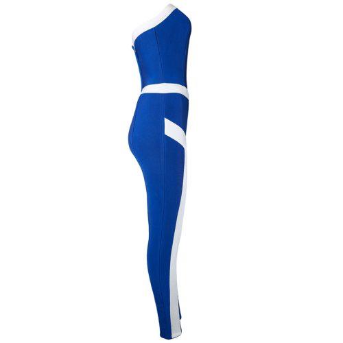 Off The Shoulder Stripe Bandage Jumpsuit KL1171 11 2