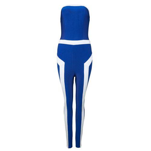 Off The Shoulder Stripe Bandage Jumpsuit KL1171 8