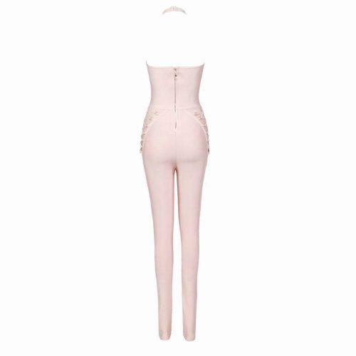 Studded Lace Up Bandage Jumpsuit K057 10
