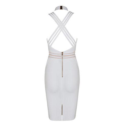 Halter Neck Strap Deep V Bandage Dress KL1212 14