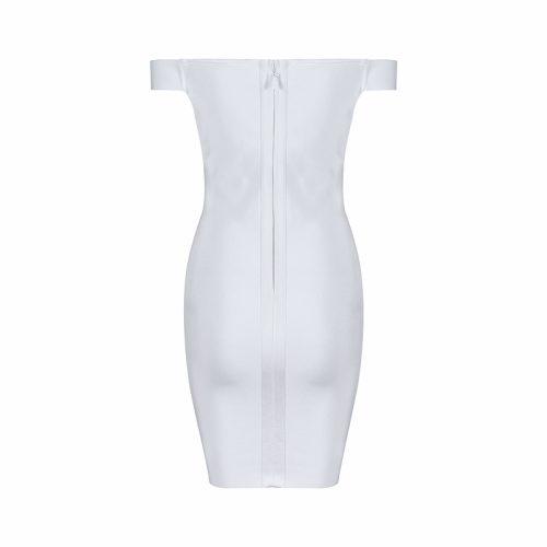 Off The Shoulder Lace Up Bandage Dress K069 10